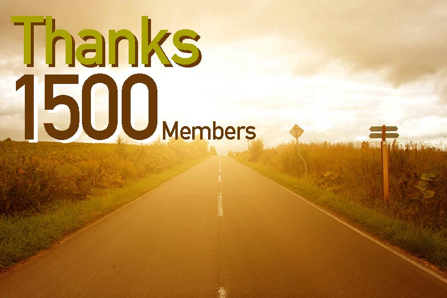 ありがとう!会員数1500人突破記念!