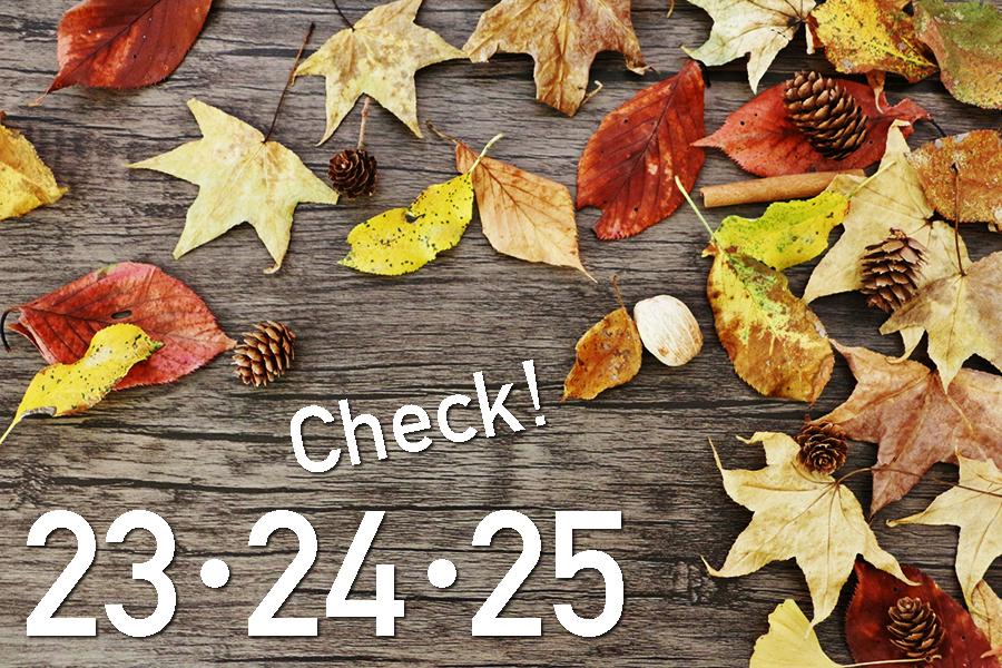 11月3連休のご予約状況にご注意ください